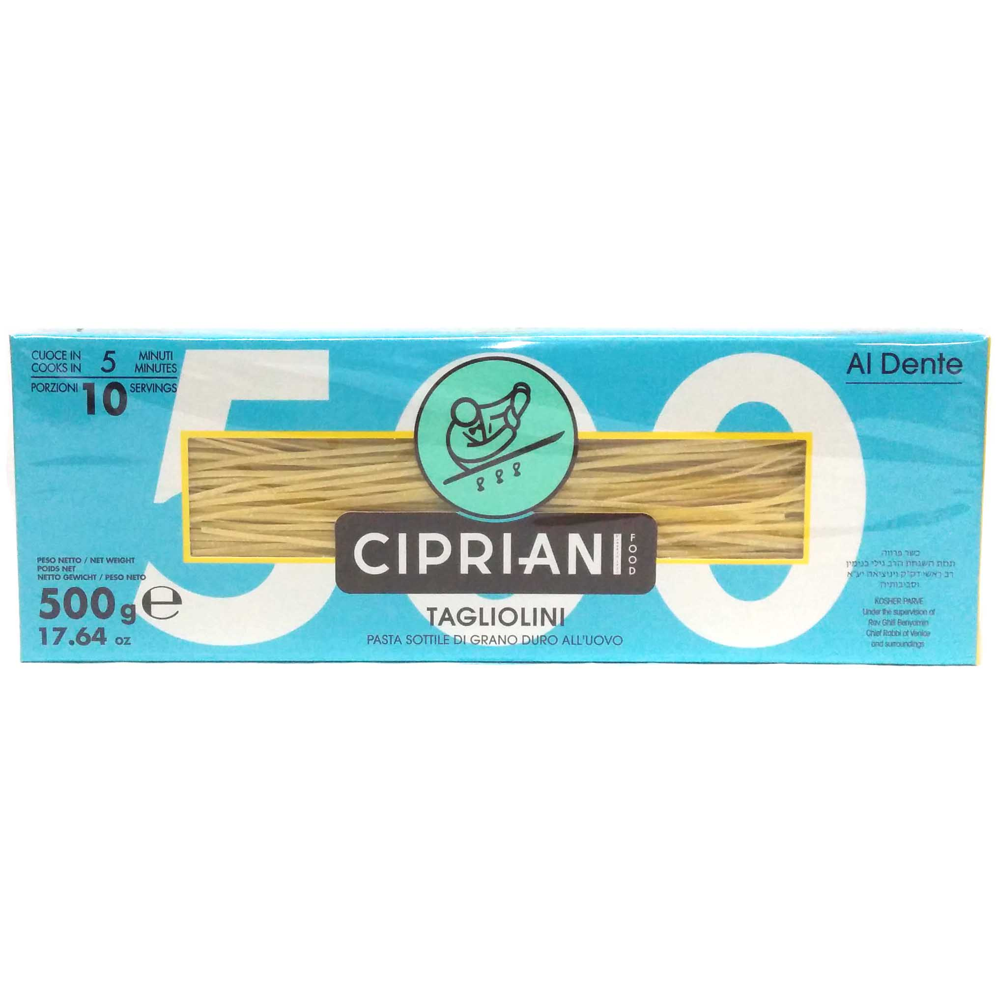Cipriani Food Al Dente Tagliolini Extra Thin Egg Pasta - 17.64 oz