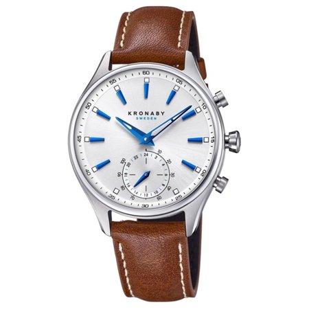 Kronaby Sekel S3122-1 Brown Leather Automatic Self Wind Smart Watch - image 4 de 4