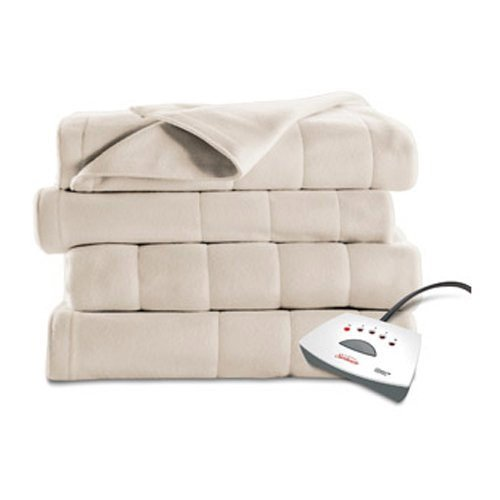 Sunbeam Electric Heated Fleece Channeled Blanket