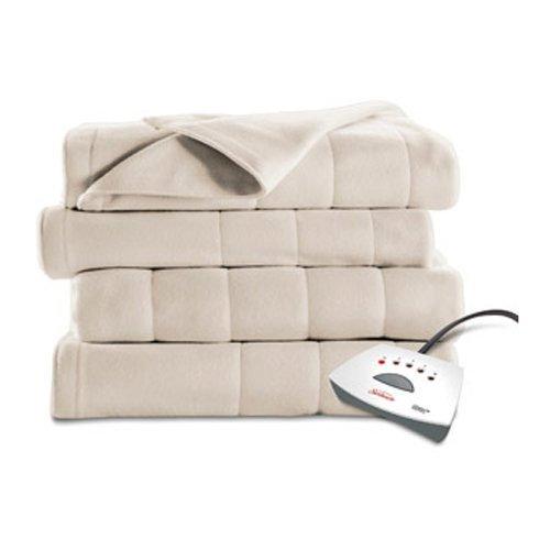Sunbeam Fleece Twin Channeled Electric Heated Blanket, 1 Each