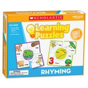 Learning Puzzles, Rhyming, 10Pcs, Multi, Sold as 1 Each