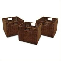 Generic Wicker Baskets - Set of 3