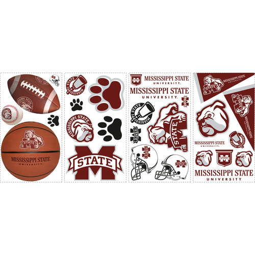 RoomMates NCAA Wall Decals, Mississippi State