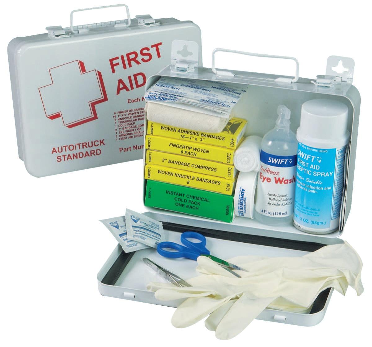 North by Honeywell Truck First Aid Kits, Medium Weatherproof Steel Box