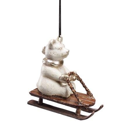 (Sledding Polar Bear Ornament)