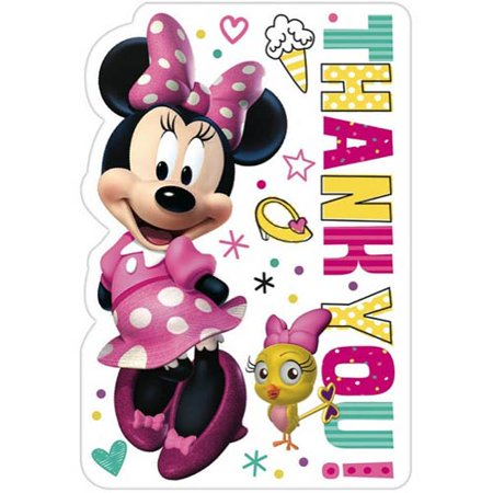 Minnie Mouse 'Happy Helpers' Thank You Note Set w/ Envelopes (8ct)](Minnie Mouse Invitation)