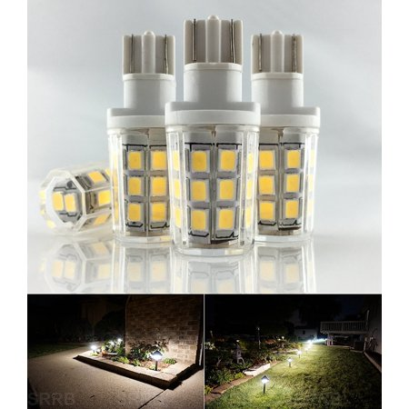 Kohree 2.5W LED Replacement Landscape Pathway Light Bulb 12V AC/DC Wedge Base T5 T10 3000K Pack of 4