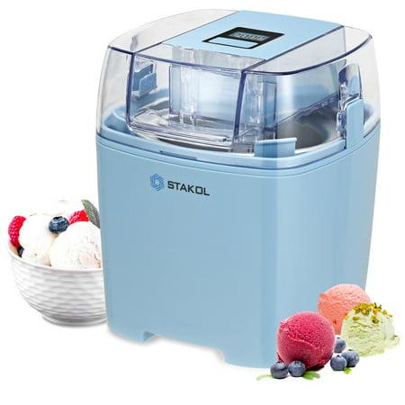 STAKOL 1.6 Quart Automatic Ice Cream Maker Freezer Bowl Dessert Machine Macarons