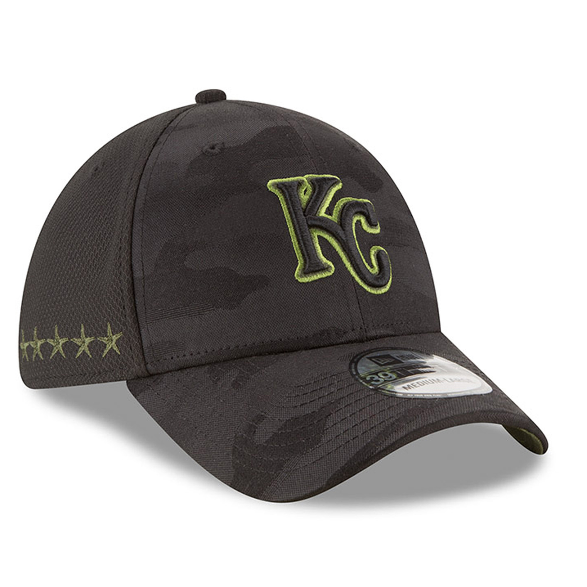 Kansas City Royals New Era 2018 Memorial Day 39THIRTY Flex Hat - Black