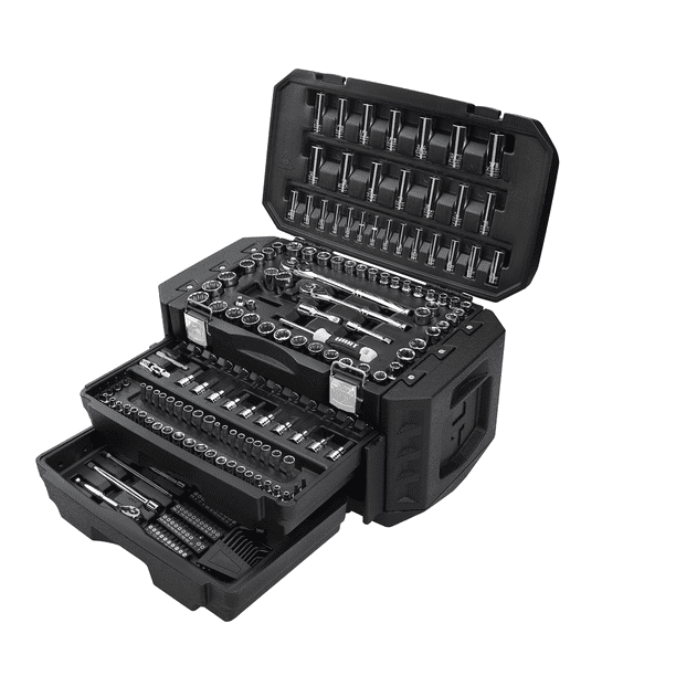 HART Multiple Drive 215-Piece Mechanics Tool Set, Chrome Finish