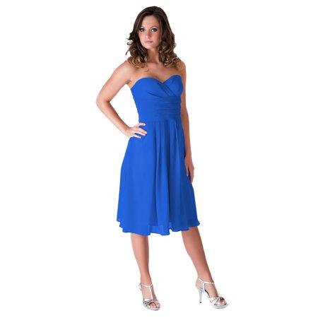 Faship Womens Elegant Pleated Waist Formal Dress Drop Waist Pleated Dress