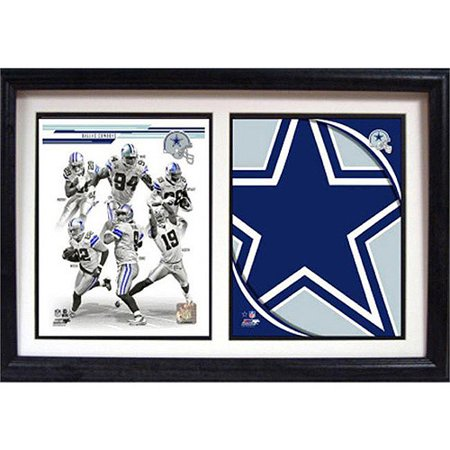 NFL Dallas Cowboys Double Custom Frame, 12x18 Dallas Cowboys Picture Frame