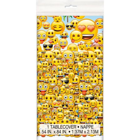 Emoji Plastic Table Cover - Emoji Themed Party