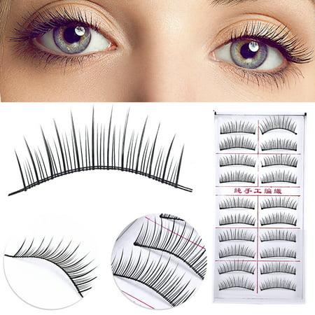 VBESTLIFE False Eyelash Extension,20pcs Natural False Eyelashes Slender Fake Eye Lashes Extension Makeup Tool, Long Eyelash Extensions