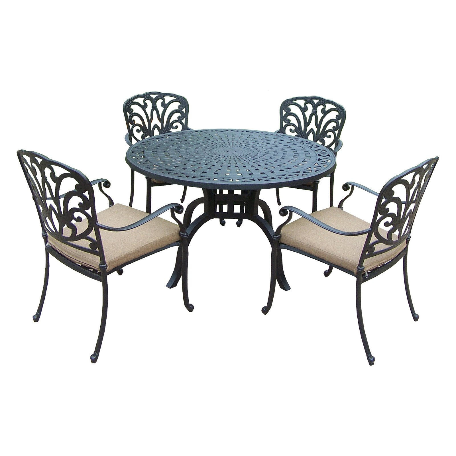 Oakland Living Hampton 48 in. Patio Dining Set