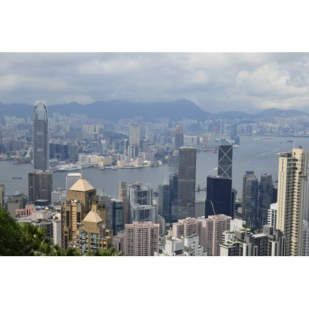Canvas Print Peak Bus Cityscape Hong Kong Skyscrapers Finance Stretched Canvas 10 x 14 ()