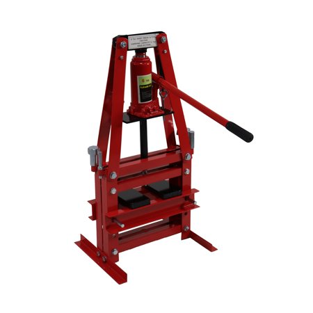 Dragway Tools 6 Ton Shop Press A-Frame with Press Tools and Plates