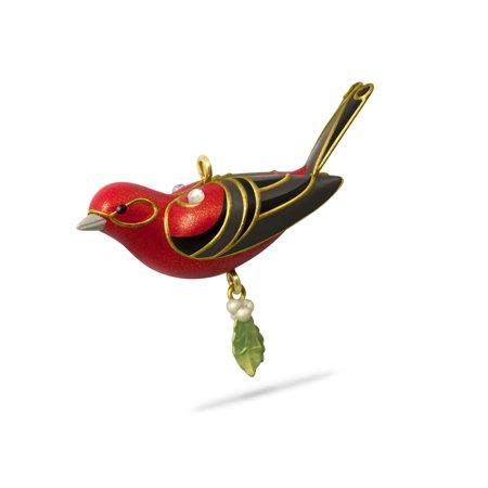 Hallmark Keepsake Mini Christmas Ornament 2018 Year Dated, Red Tanager Bird  M