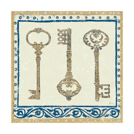 Regal Keys Indigo and Cream Print Wall Art By Designs -