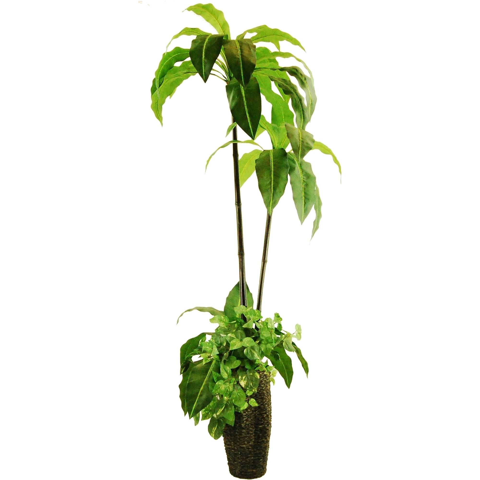 """72"""" Artificial Birds Nest Tree Garden with Ivy in a Scalloped Basket"""