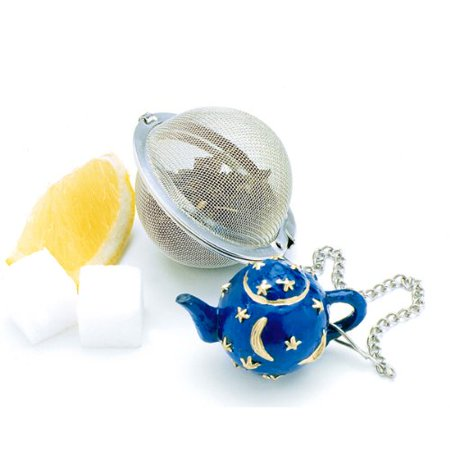 - Norpro Stainless Steel 2-Inch Mesh Tea Infuser Ball with Teapot Weight, Brew your loose tea with ease! A charming addition for all tea lovers.., By Norpro Inc
