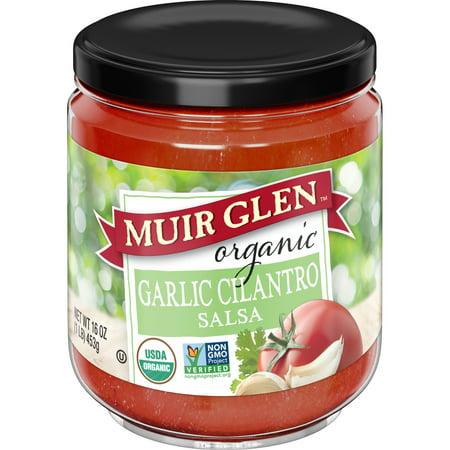 (2 Pack) Muir Glen Organic Garlic Cilantro Salsa, 16 oz Jar