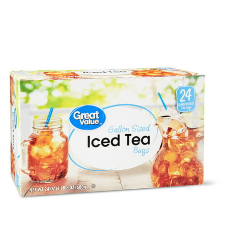 - Great Value Iced Tea Bags, Gallon Sized, 24 oz, 24 Count