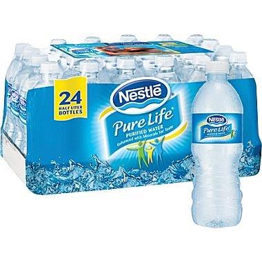 Nestl� Pure Life� Bottled Purified Water, 16.9 oz. Bottles, 24/Case