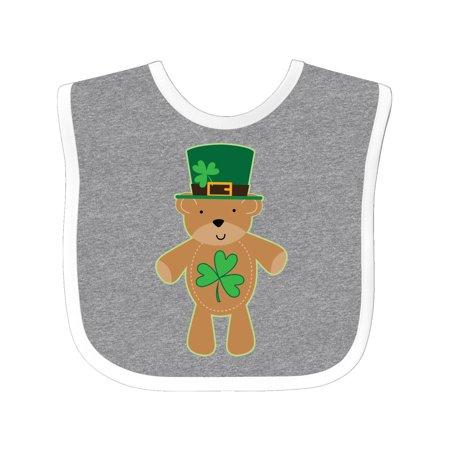 St Patricks Day Irish Teddy Bear Shamrock Baby Bib