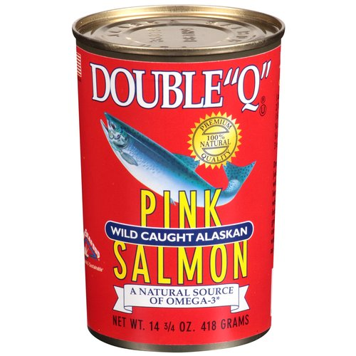 "Double ""Q"" Wild Caught Alaskan Pink Salmon, 14.75 oz"
