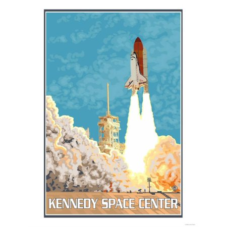 Kennedy Space Center, Cape Canaveral, Florida Print Wall Art By Lantern Press (Cape Canaveral Lighthouse)