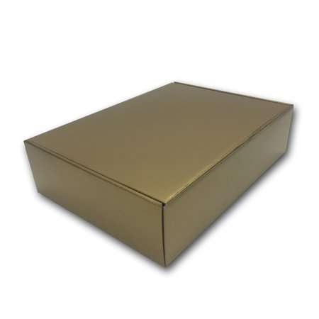 Uboxes Holiday Gift Boxes, Gold Gloss, 12 x 9 x 3 in., 6 Pack