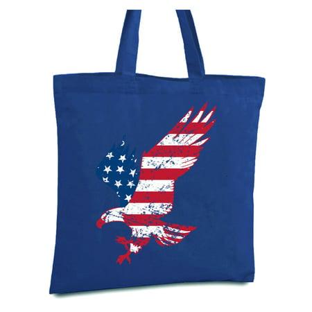 Awkward Styles American Flag Eagle Shopper Bag American Eagle Canvas Tote Bag Patriotic Gifts for Men and Women USA Book Bag Eagle Reusable Grocery Bag USA Flag Shopping Bag America Bag USA Gifts