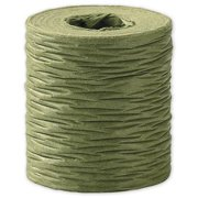 Deluxe Small Business Sales 90909-21 1.5 in. x 25 yds. Crinkle Paper Ribbon, Olive Green