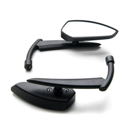 Krator Custom Rear View Mirrors Black Pair w/Adapters For Suzuki Savage LS 650 Black Suzuki Oem Replacement Mirrors