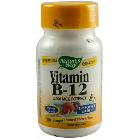 Nature's Way vitamine B12 Pastille Capsules, 100 CT