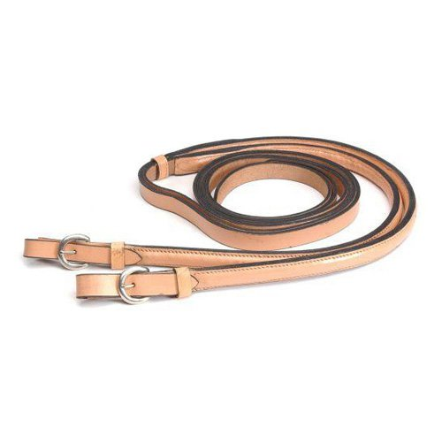 """Tough-1 Royal King Weighted Training Reins - Light Oil - 3/4"""""""