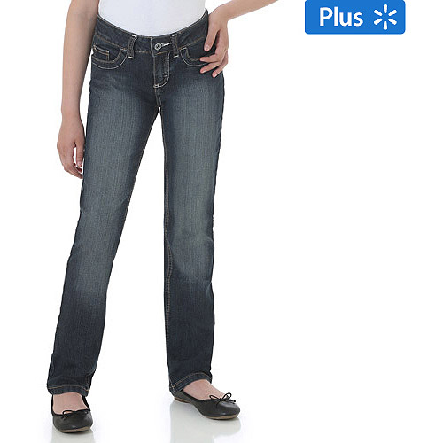 Wrangler Girls' Plus Straight Leg Jeans