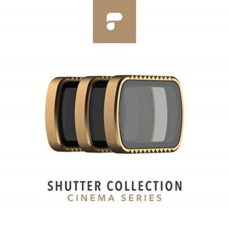 polarpro cinema series filter 3-pack - shutter collection for dji osmo