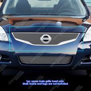 2010-2012 Nissan Altima Sedan Stainless Steel Chrome X Mesh Grille Grill Insert
