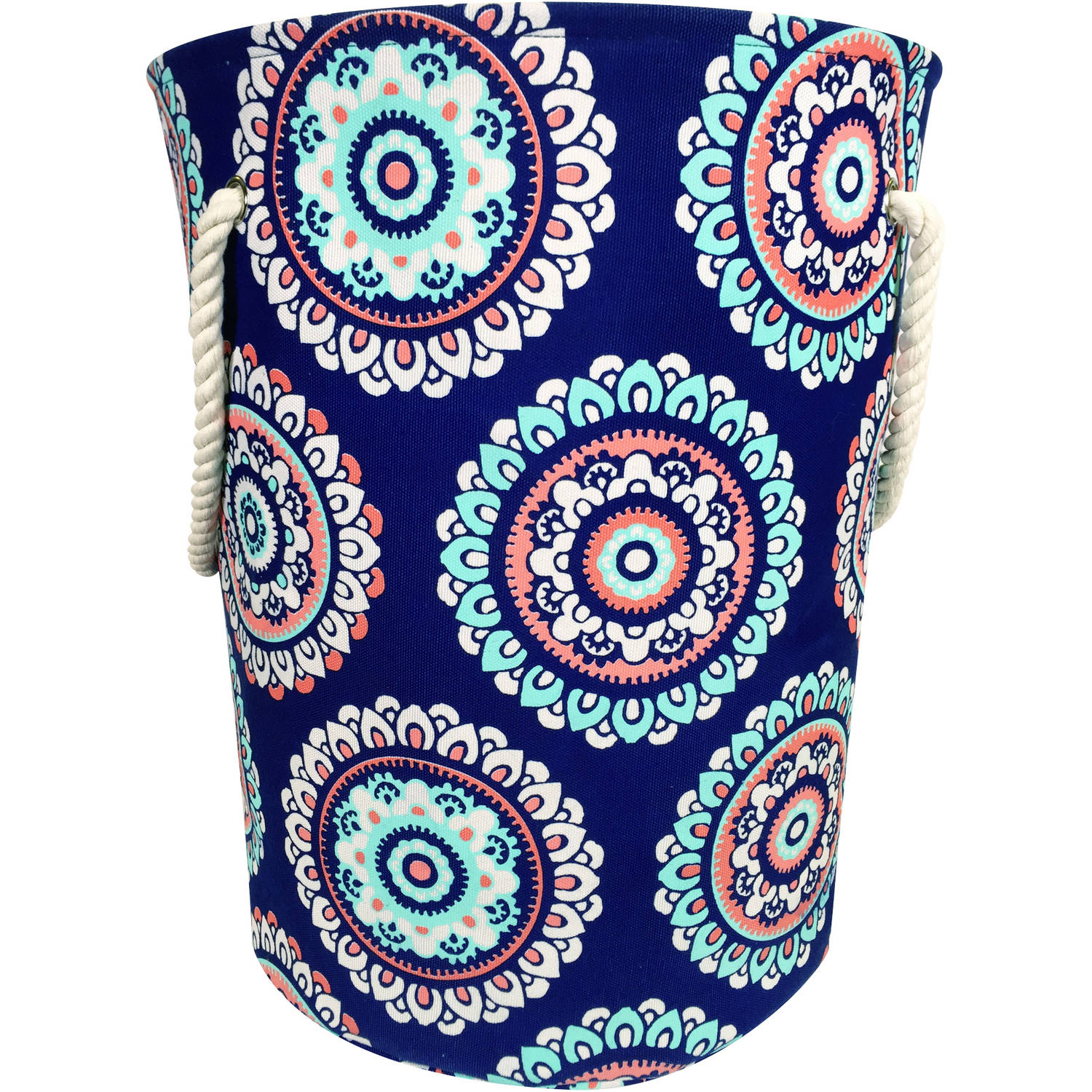Mainstays Canvas Laundry Hamper with Rope Handles, Multiple Colors