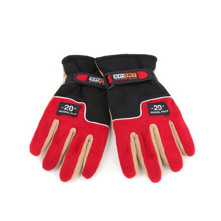 Adjustable Gloves Men Full Finger Fleece Outdoor Windproof Thermal Winter Ski Cycling Skiing Hiking