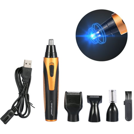 Professional Hair USB Charge Body Beard Trimmer Ear Nose Temple Hair Eyebrow Mustaches Trimmer Electric Shaver Razor Kits