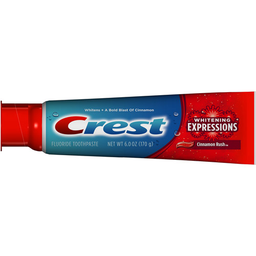 Crest Complete Multi-Benefit Whitening Expressions Cinnamon Rush Flavor Toothpaste, 6 oz