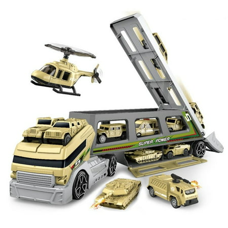 Military Truck 18 inch with 7 different military vehicles + 1 - Military Toys