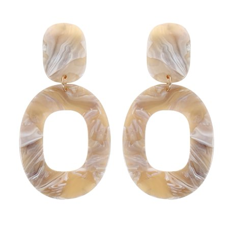 KABOER New Fashion Big Vintage Colorful Oval Geometry Acrylic Statement Drop Earrings For Women Jewelry Gift Accessories (Colorful Earrings)