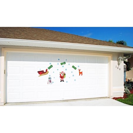 ho ho ho santa claus with snowflakes christmas magnetic door decorations