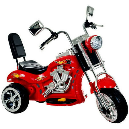 Ride on Toy, 3 Wheel Trike Chopper Motorcycle for Kids by Lil' Rider - Battery Powered Ride on Toys for Boys and Girls, 2 - 4 Year Old - Red - Ride On Toys For 4 Year Olds