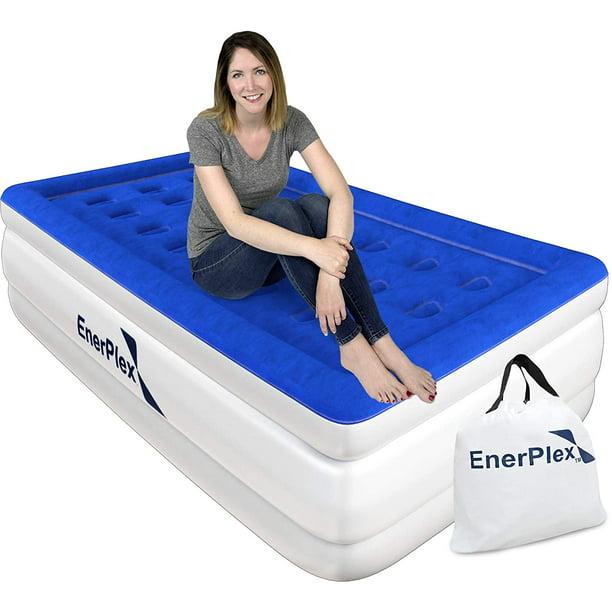Enerplex Luxury 16 Inch Double High Twin Air Mattress With Built In Pump Walmart Com Walmart Com