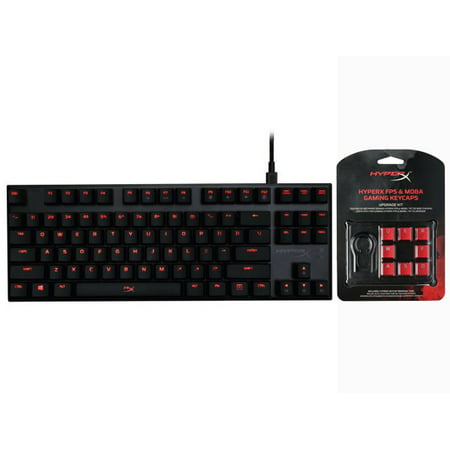 HyperX Alloy FPS Pro Mechanical Gaming Keyboard,MX Red + HyperX FPS & MOBA Gaming Keycaps Upgrade